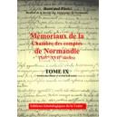 Mémoriaux de la chambre des comptes de Normandie XIV°-XVII° siècles Tome 9